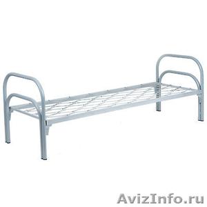 кровати одноярусные, кровати металлические двухъярусные для общежитий и больниц - Изображение #4, Объявление #695647