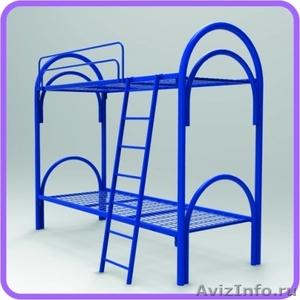 Кровати металлические трёхъярусные, кровати для общежитий, кровати для гостиниц, - Изображение #1, Объявление #1480251