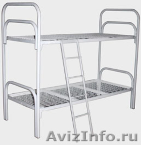 Кровати металлические трёхъярусные, кровати для общежитий, кровати для гостиниц, - Изображение #2, Объявление #1480251